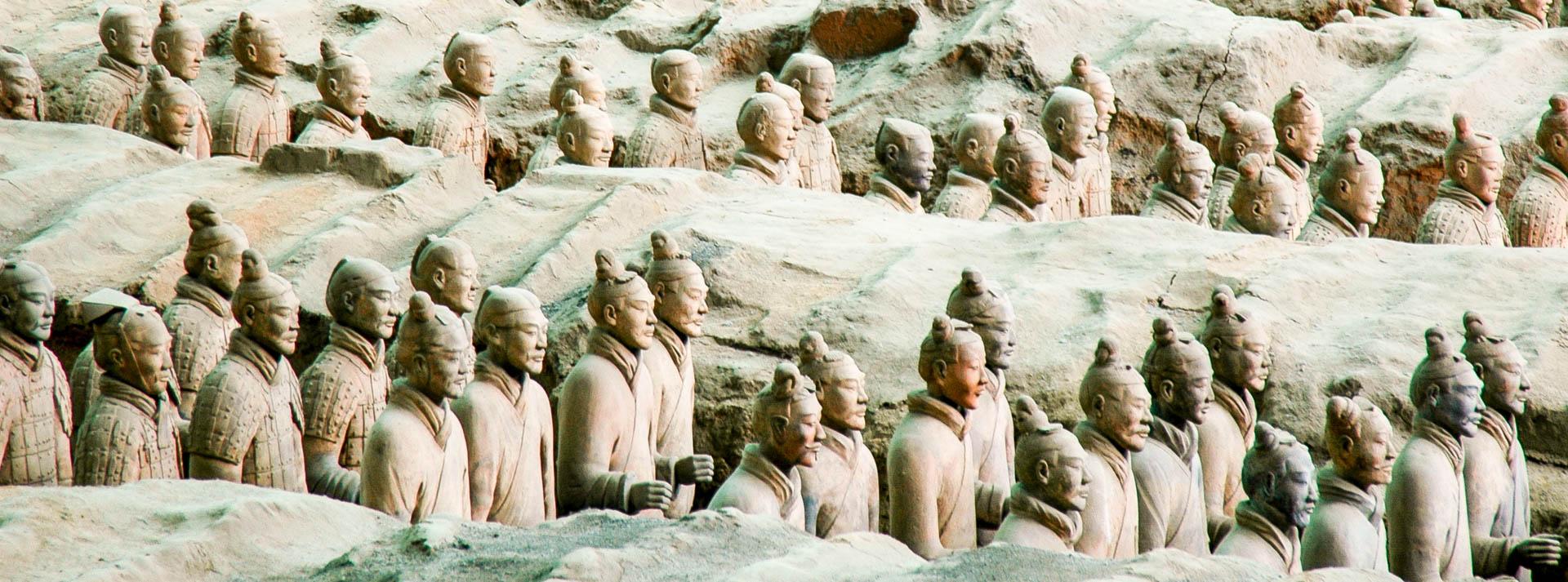 Xi'an, l'armée des soldats de terre cuite