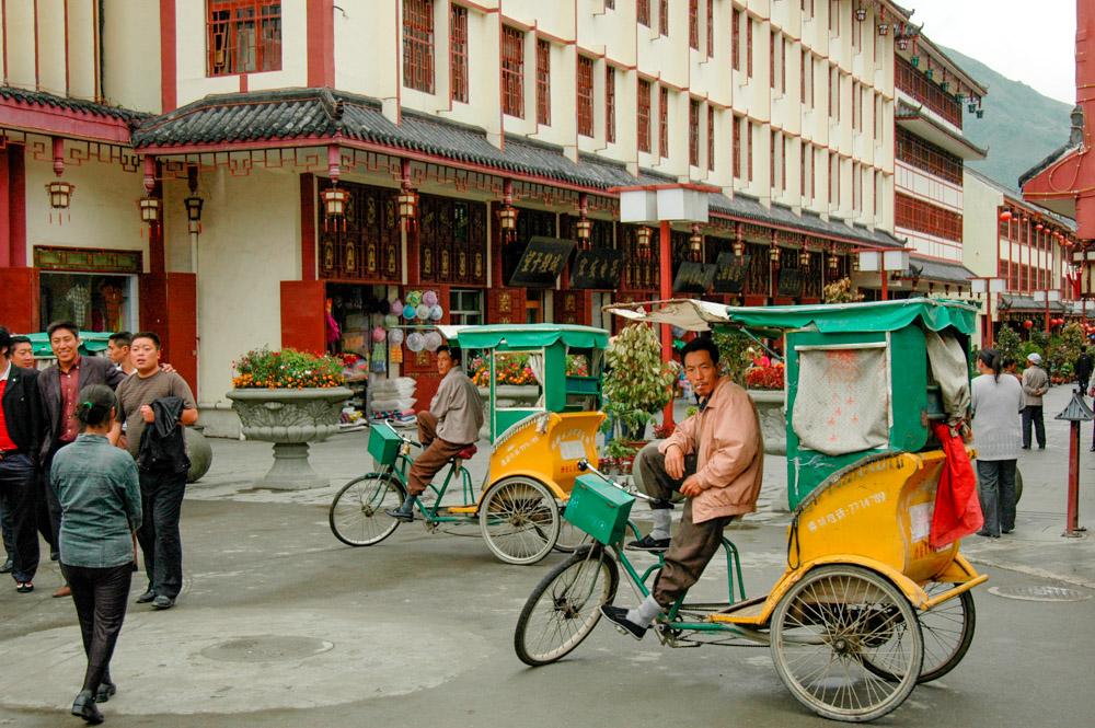 Songpan, vélos-pousse