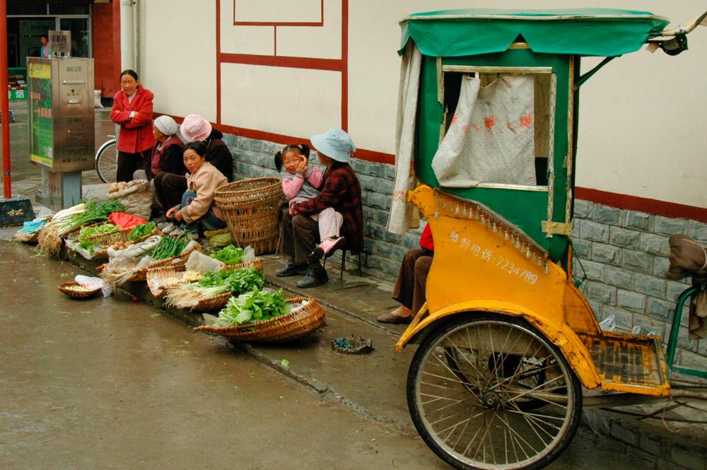Songpan, marchandes de légumes