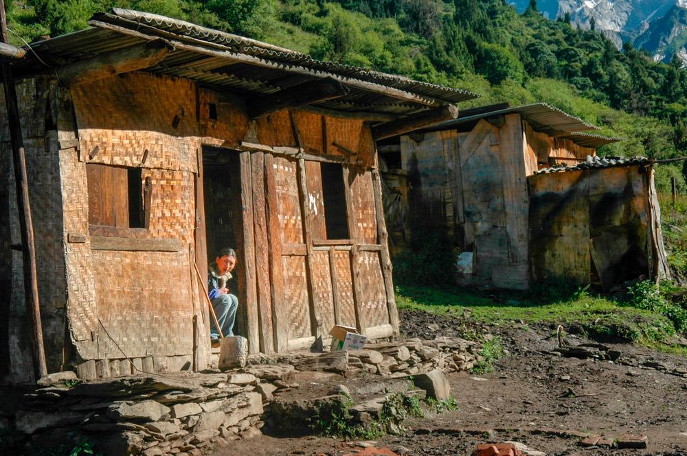 Dans le village tibétain.