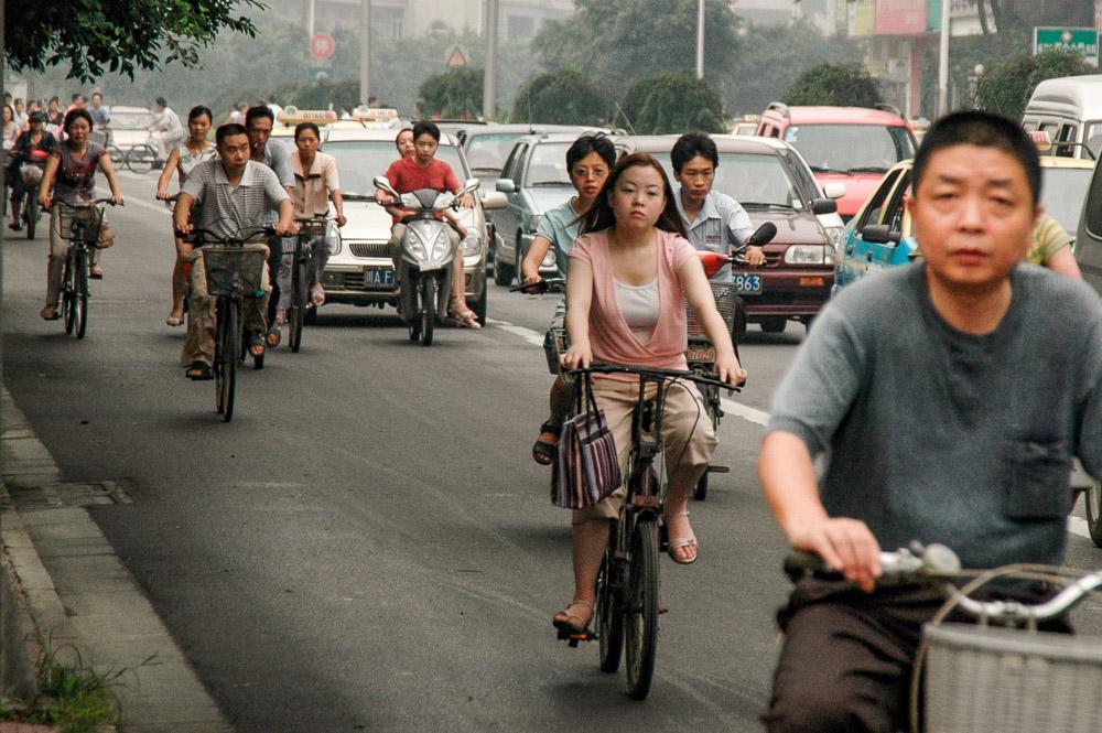 Circulation matinale à Chengdu