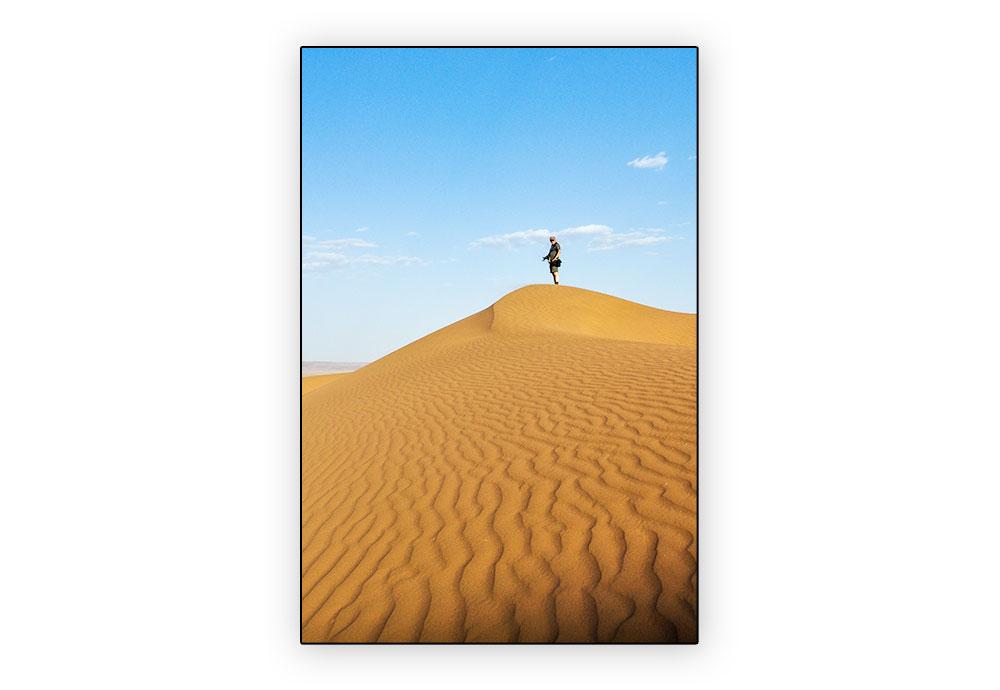 personne sur dune