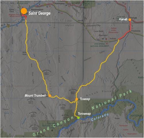 carte de saint-george à Kanab