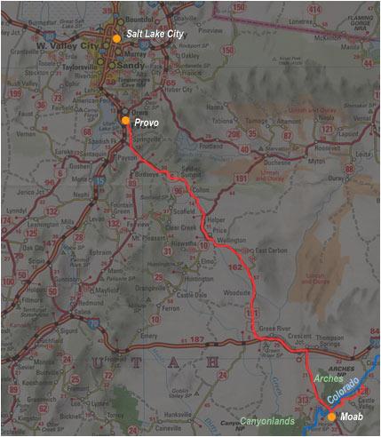 Carte de Moab à Provo