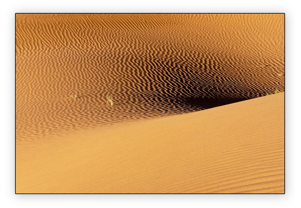 lumière sur le sable