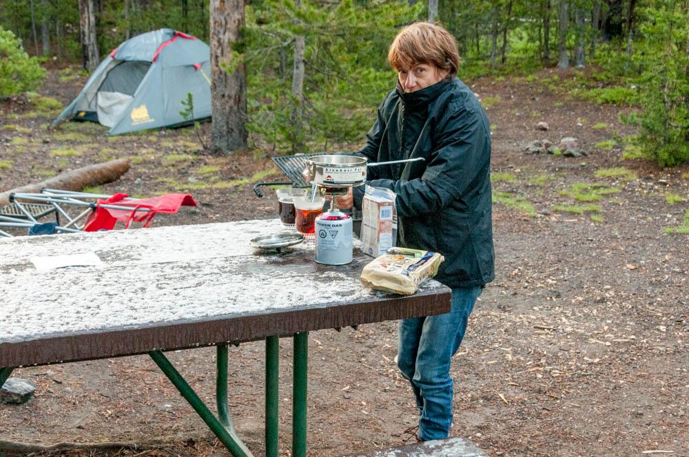 Christine au camping