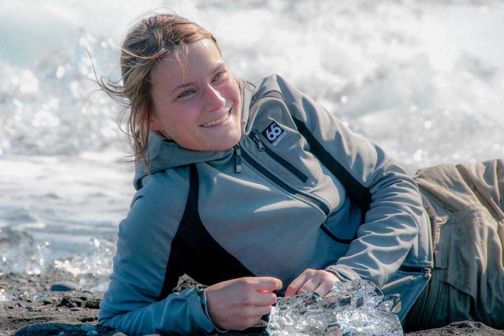 Camille en Islande