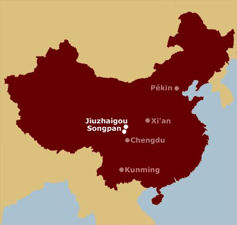Songpan sur carte de Chine