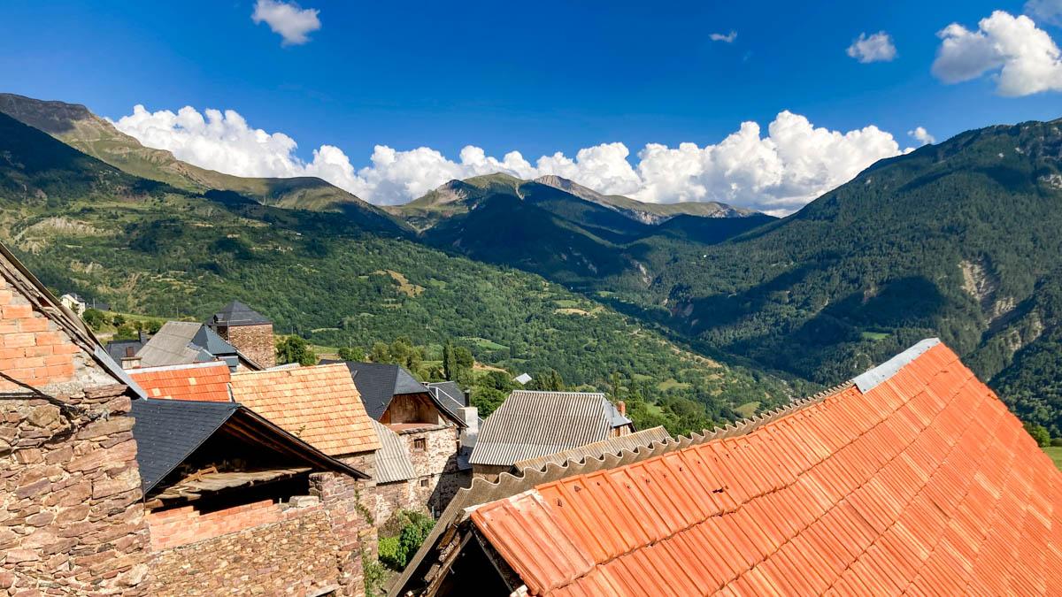 Vue des montagnes depuis Gistain