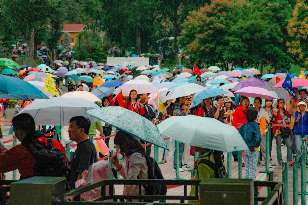 Sortie du parc du Jiuzhaigou