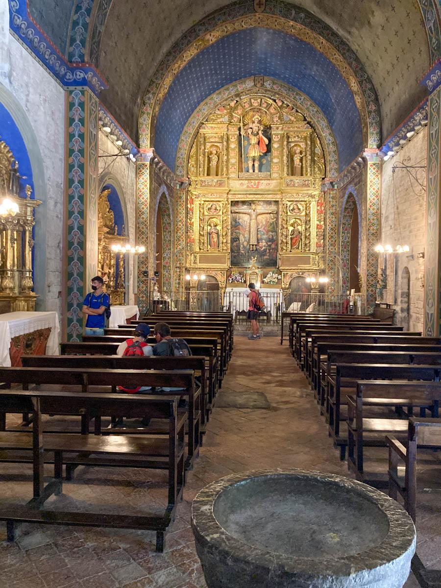 La nef de l'église Saint-Christophe