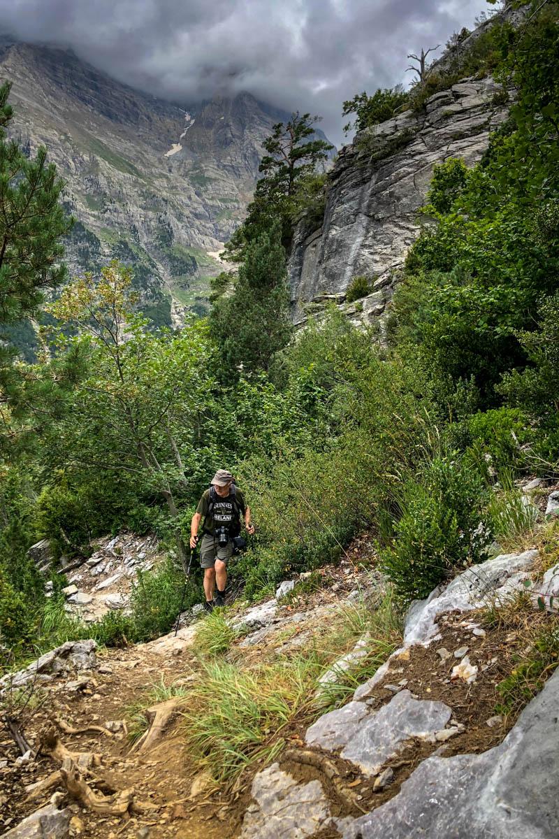 Louis-Michel en randonnée